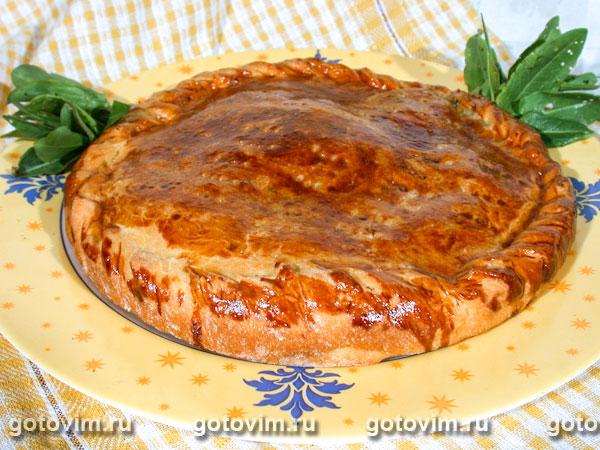 Пирог с щавелем. Фотография рецепта