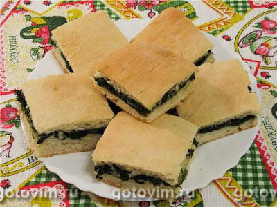 Постный пирог со шпинатом. Фотография рецепта