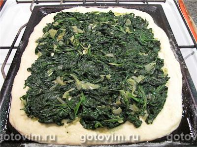 Постный пирог со шпинатом, Шаг 04