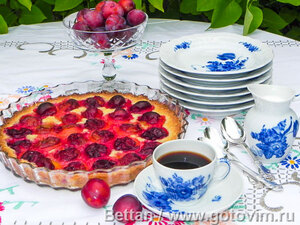 Пирог со сливами элементарный
