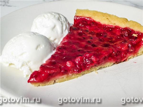 Пирог с красной смородиной из песочного теста рецепт