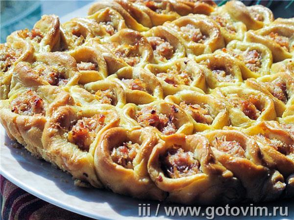 Пирог с мясом и капустой «Соты». Фотография рецепта