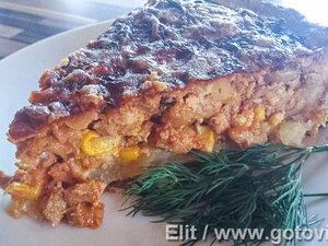 Пирог с телятиной по мексиканским мотивам
