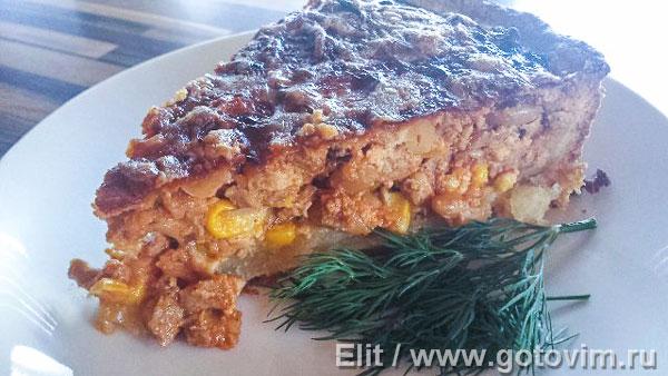 Пирог с телятиной по мексиканским мотивам . Фотография рецепта