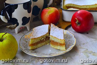 Пирог с тертыми яблоками. Фотография рецепта