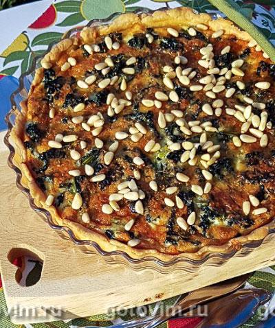 Фотография рецепта Пирог из тосканской капусты с орешками
