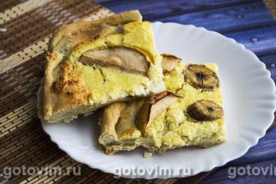 Фотография рецепта Пирог с творогом и фруктами