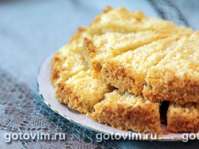 песочный пирог с творогом рецепт с фото