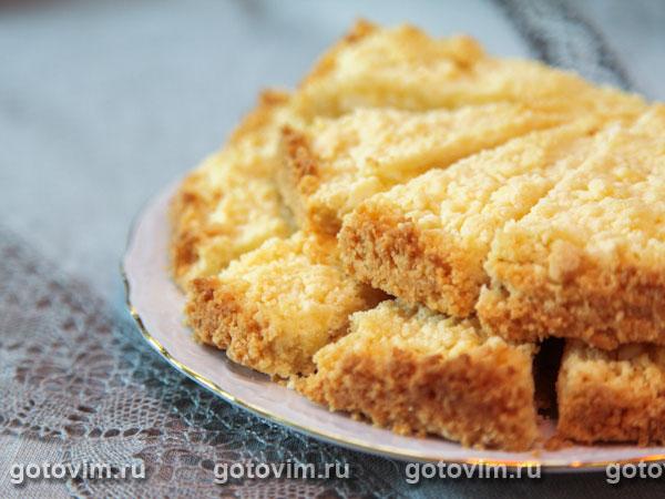 Пирог песочный с творогом пошагово