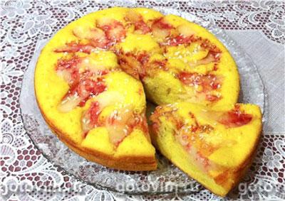 Пирог с яблоками (рецепт для мультиварки). Фотография рецепта