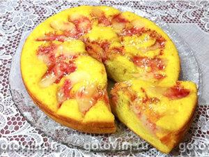 Пирог с яблоками (рецепт для мультиварки)