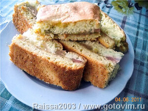 Пирожные с ревенем