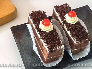 Пирожные «Шоколадный бархат»