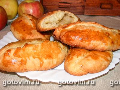 Пирожки из дрожжевого теста с яблоками. Фотография рецепта
