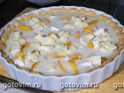 Пирог с персиками и бри, Шаг 05