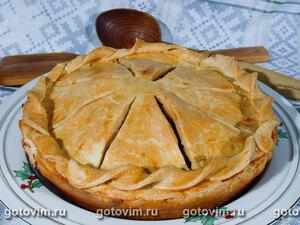 Пирог с мясом и яблоками