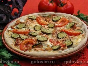 Пицца с копченой рыбой