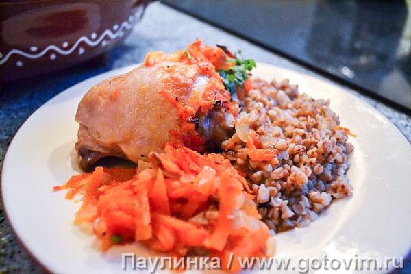 Блюда в горшочках в духовке рецепты с фото курица с гречкой