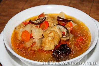 Фотография рецепта Рыбная похлёбка с грибами «по-суворовски»