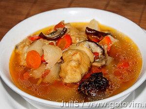 Рыбная похлёбка с грибами «по-суворовски»