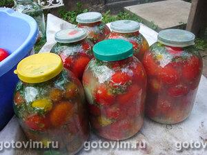 Помидоры, консервированные в маринаде с острым и сладким перцем