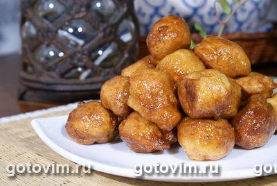 Пончики с медом. Фотография рецепта
