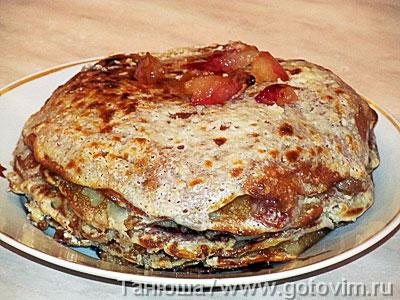 Прити-лакшанам (блинный яблочный пирог), Шаг 08