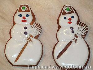 Медовое печенье «Снеговики»