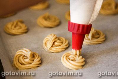 Профитроли с белыми грибами и сыром, Шаг 02