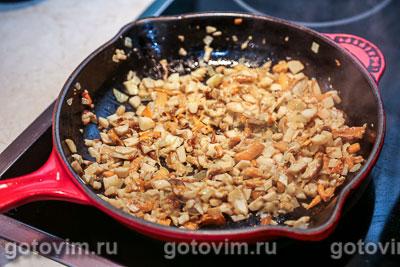 Профитроли с белыми грибами и сыром, Шаг 05