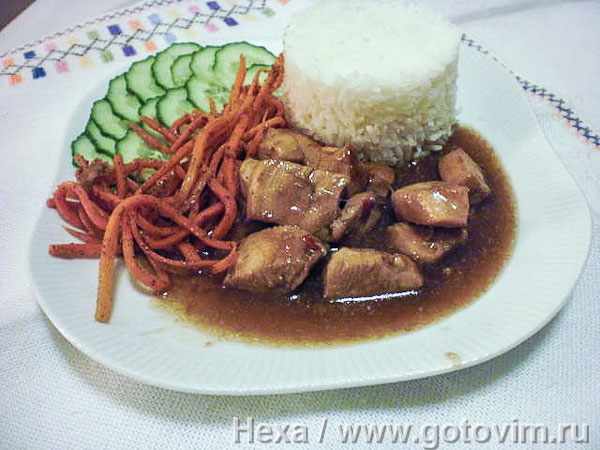 Пряная курица терияки. Фотография рецепта