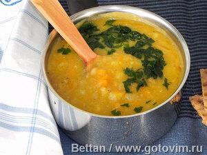 Пряный суп с фасолью и корнеплодами