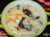 Куриный суп с плавленым сыром и пшеном