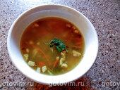 Пшенный суп с топинамбуром и молодой зеленью