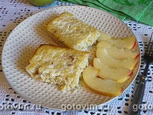 Пшенная запеканка с яблоками