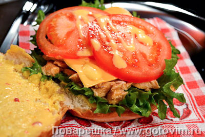���������� ������� ������ � ������� � ����� (Pulled chiken burger), ��� 04