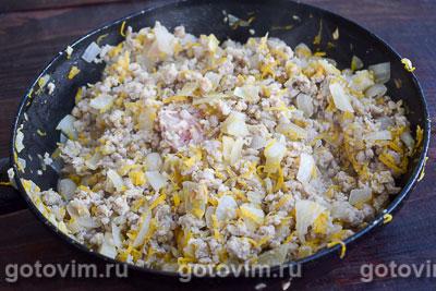 Рагу из тыквы с мясным фаршем и овощами в мультиварке, Шаг 04