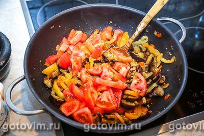 Овощное рагу из баклажанов с фасолью, Шаг 06