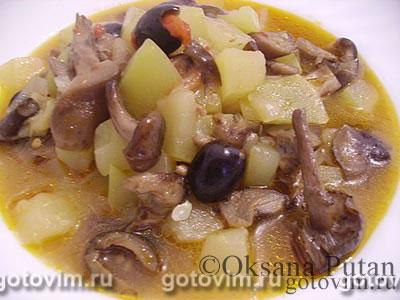 Рагу из кабачков с грибами. Фотография рецепта