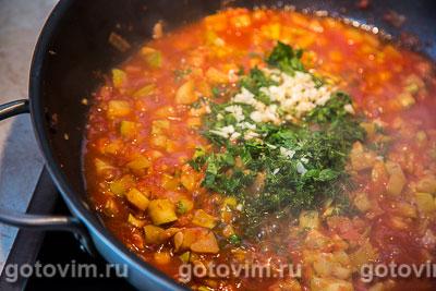 Жареные кабачки с помидорами, Шаг 06