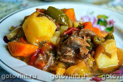 Рагу из косули с овощами
