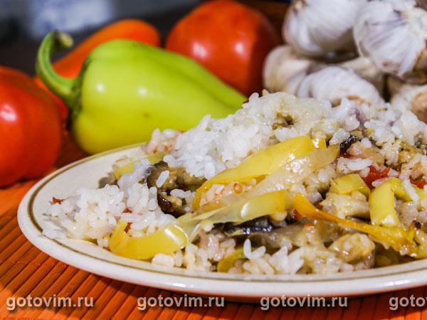 Овощное рагу с рисом. Фотография рецепта