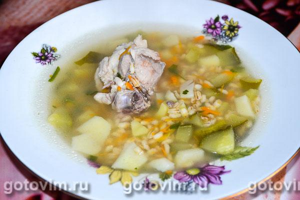 Рассольник с перловкой суп