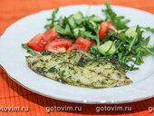 Филе тиляпии, запеченное с зеленью