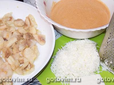 Фотографии рецепта Дрожжевой заливной пирог с рыбой, Шаг 03