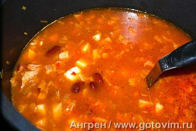 Итальянский суп с фасолью риболлита, Шаг 07