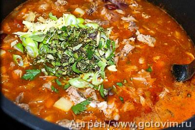 Итальянский суп с фасолью риболлита, Шаг 08