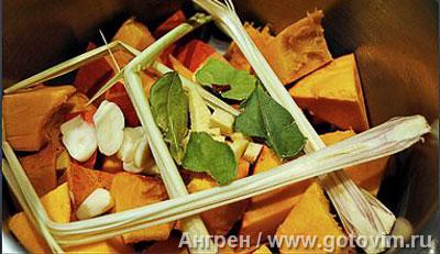 Фотографии рецепта Рыбная вариация с тыквенным пюре и тартаром из яблок и цуккини, Шаг 01