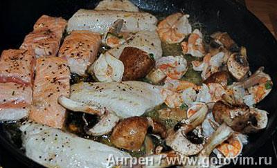 Фотографии рецепта Рыбная вариация с тыквенным пюре и тартаром из яблок и цуккини, Шаг 06