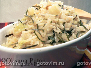 Рис с двумя видами капусты